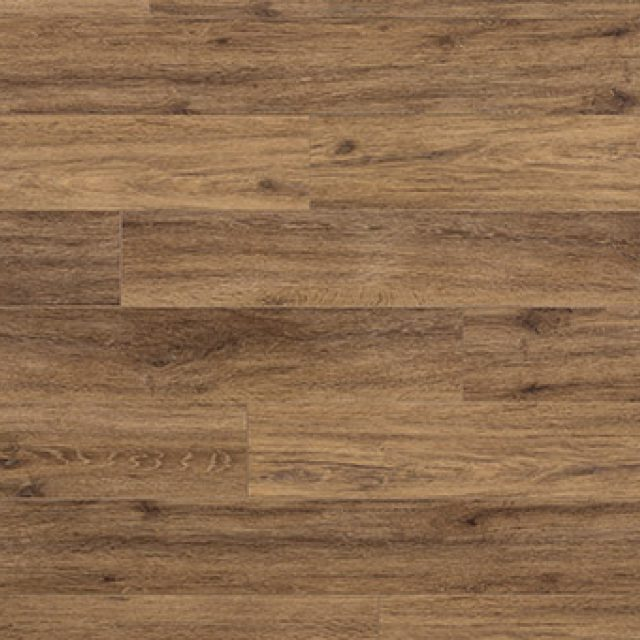 Evoke VCC Bridge Mike, a brown oak, embossed, wide plank vinyl in a low gloss finish.