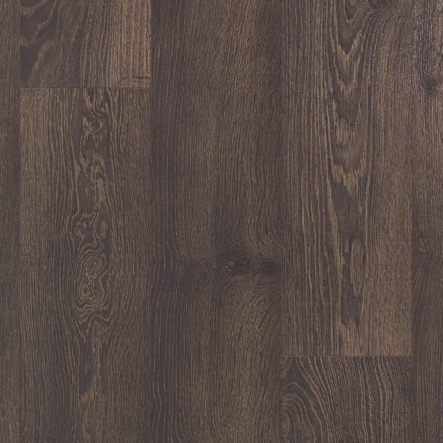 Torlys Classic Plus Reclaimed Old Oak Dark, a warm, wide plank oak, available at Alberta Hardwood Flooring.