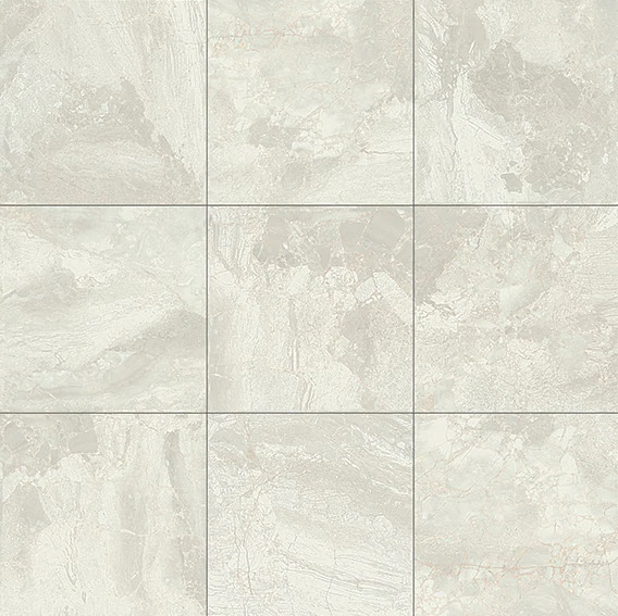 "12"" X 12"" X 6 MM - DALTILE MARBLE FALLS  WHITE WATER POLISHED"
