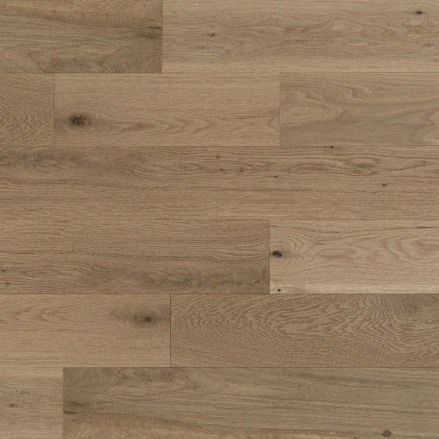 Mirage White Oak Character Brushed Natural Duramatt A natural white oak in a smooth finish, available at Alberta Hardwood Flooring.