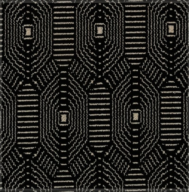 Karastan Ellesmere Designer Black Wool and Smartstrand Blend