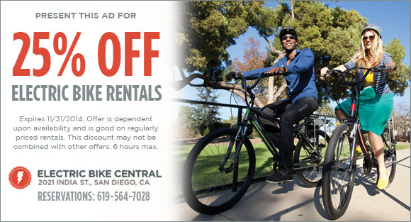 Electric Bike Rental Coupon