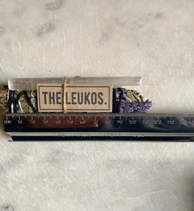 Smudge stick- with Selenite THE LEUKOS Cleanse & Relax Lavender