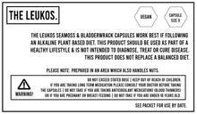 Load image into Gallery viewer, Seamoss + Bladderwrack Vegan capsules 120 - THE LEUKOS