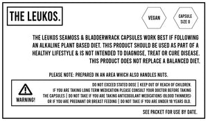 Seamoss + Bladderwrack Vegan capsules 120 - THE LEUKOS