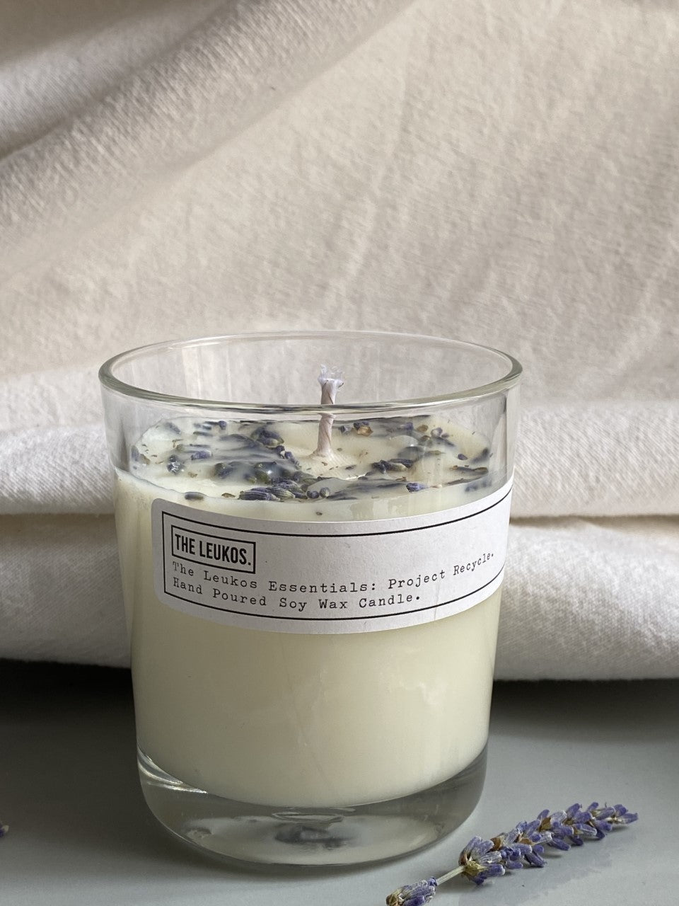 Lavender & Chamomile Soy Wax Candle - The Leukos Essentials