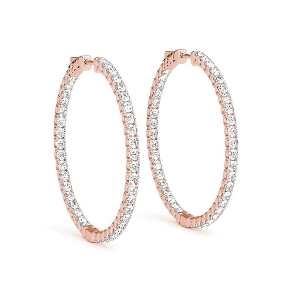 1/3 OF A CARAT HOOP EARRINGS