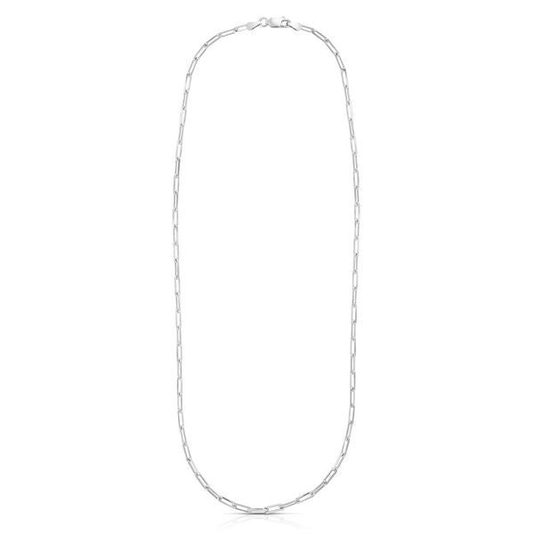 Silver Paperclip Chain 2.95mm
