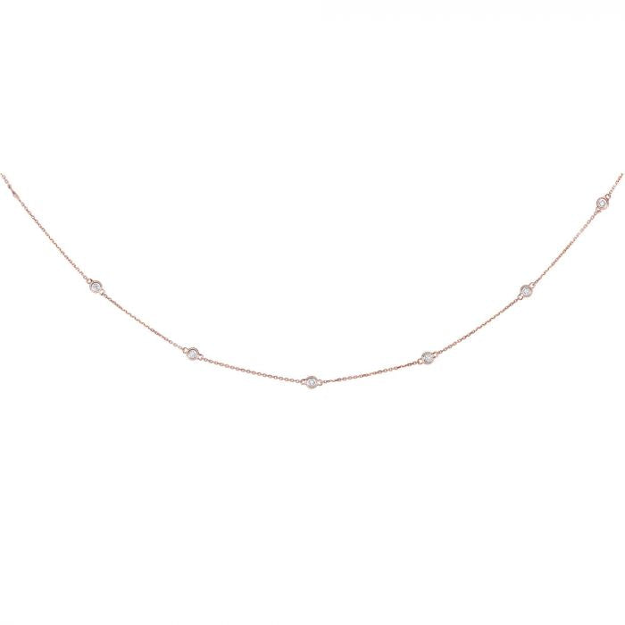 14K Gold .25ct Diamonds by the Yard Necklace