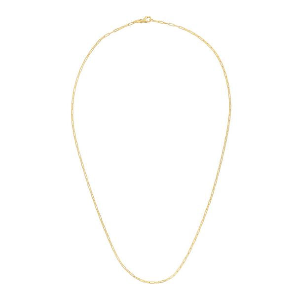 14K Yellow Paperclip 1.5mm Chain