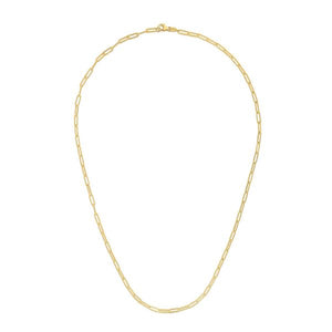 14K Yellow Paperclip 2.1mm Chain