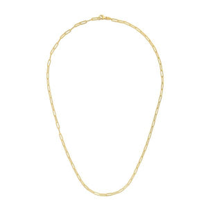 14K Yellow Paperclip 2.5mm Chain
