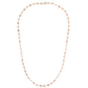 "14K Rose 16.25"" Round Mirror Chain Choker"