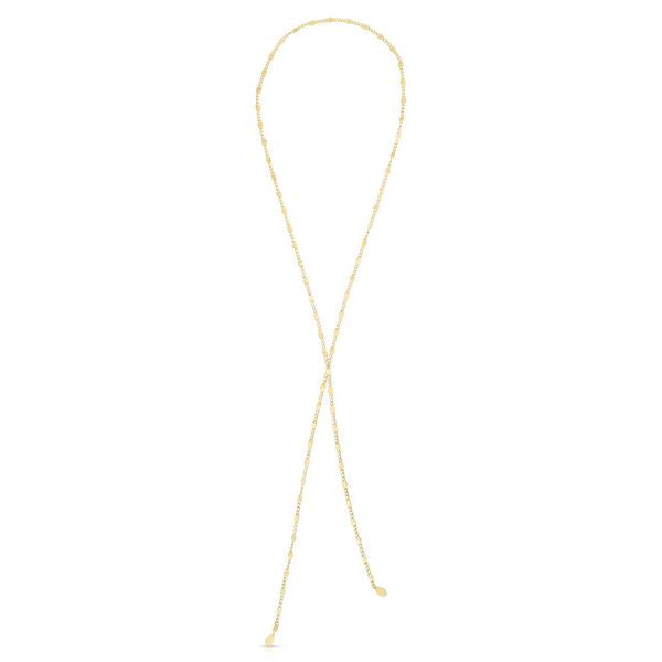 "14K 38"" Yellow Endless Scarf Necklace"