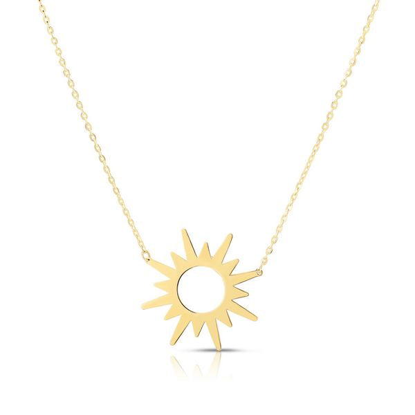 14K Starburst Necklace