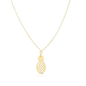 14K Pineapple Necklace