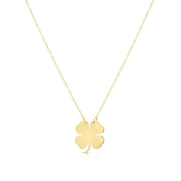 14K Clover Necklace