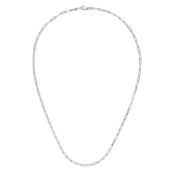 "14K White 18"" Paperclip 2.5mm Chain"