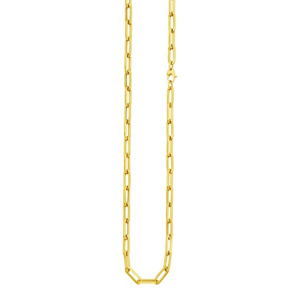 14KT Yellow Paperclip Links 5.3mm