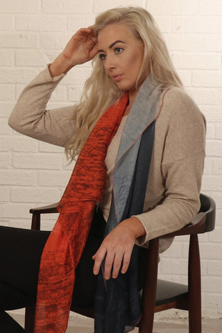 Mottled Tri Colourblock Scarf. 3 Colours