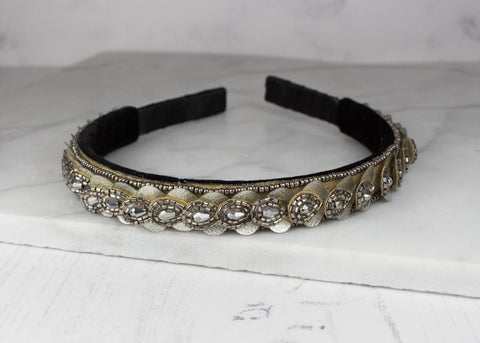 Petal Hairband in Silver and Gold