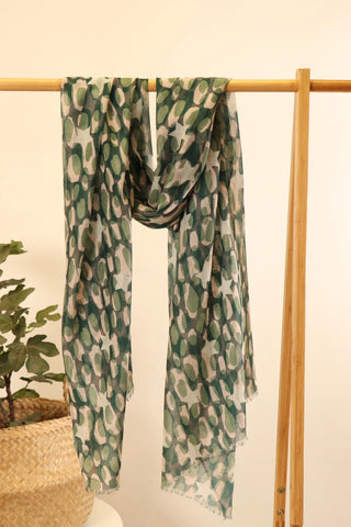 Forest Green Star and Camouflage Scarf