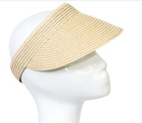 Sun Visor in Natural, Black and Navy
