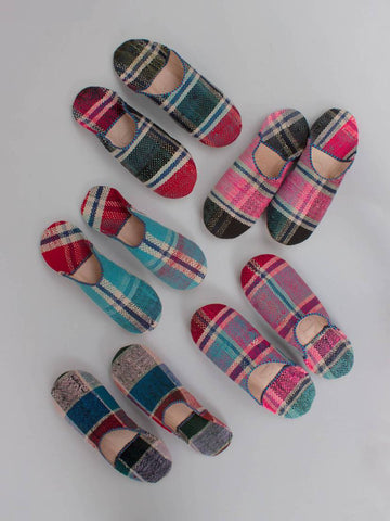 Moroccan Boujad Babouche Slippers Essaoira Check