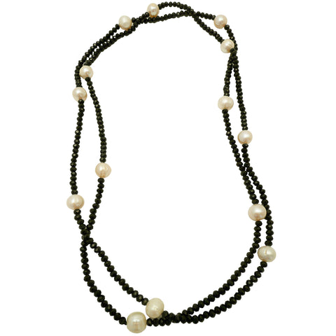 Glass Bead and Pearl Necklace