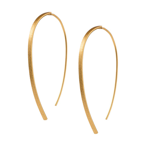 Gold Threader Wishbone Earrings