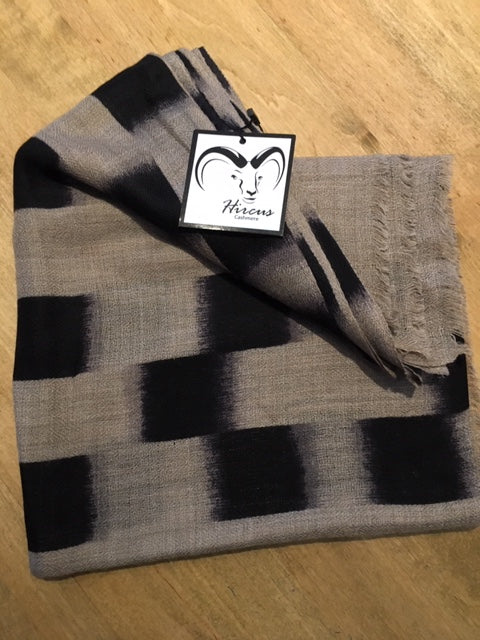 Cashmere and Silk Checkerboard Scarf