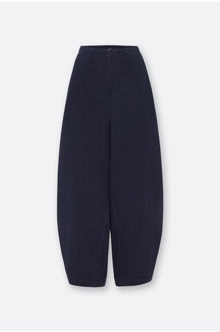 Textured Linen Bubble Pant in Midnight