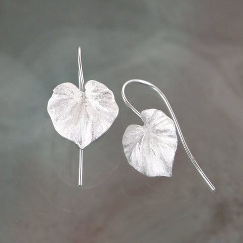 Silver Tropical Leaf Earrings
