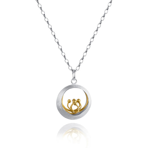 Little Water Feature Silver & Gold Pendant