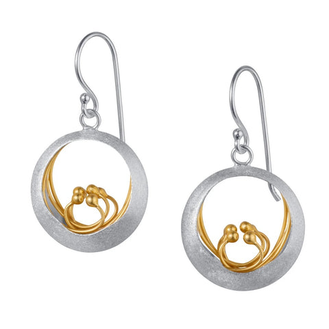 Little Water Feature Silver & Gold Earrings
