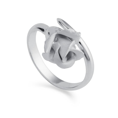 Christin Ranger English Rose Silver Ring