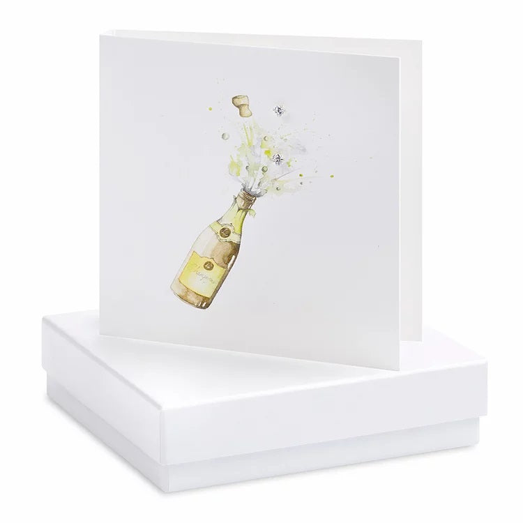 Boxed Champagne Earring Card