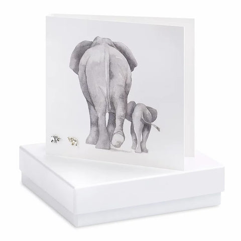 Boxed Elephant Earring Card