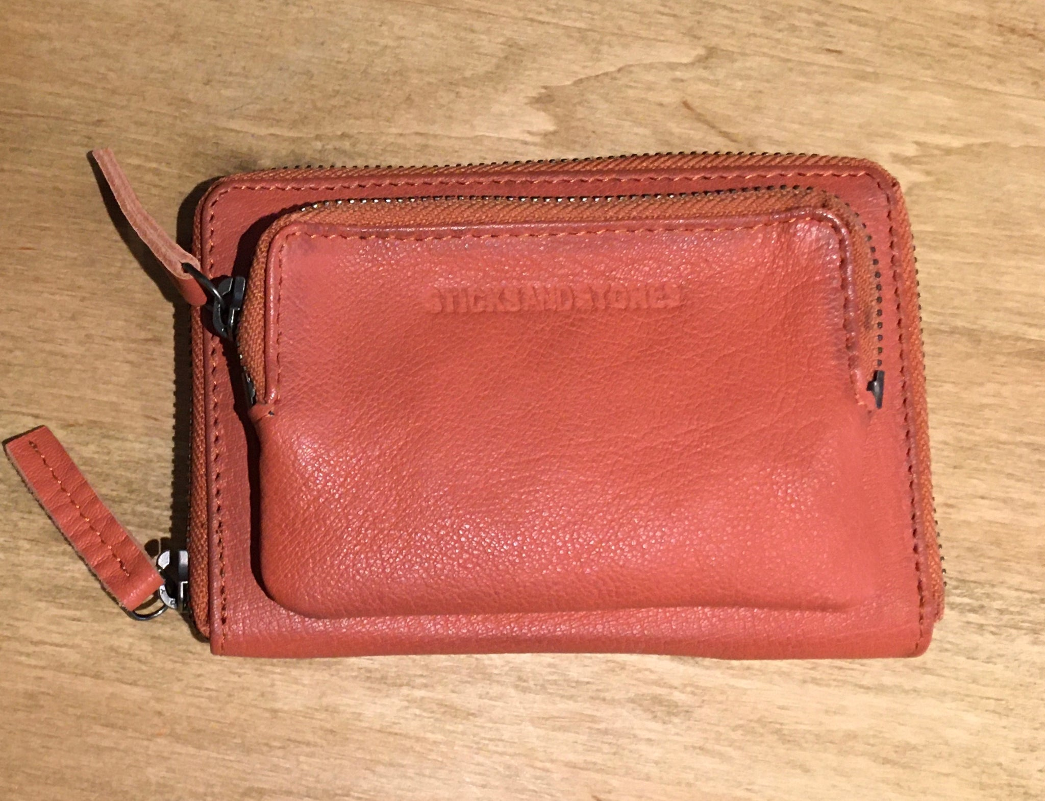 Montana Wallet in Burnt Orange and Marine Blue