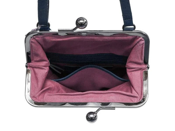 Lyon Bag in Dark Blue and Purple