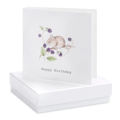Boxed Mouse Birthday Earring Card