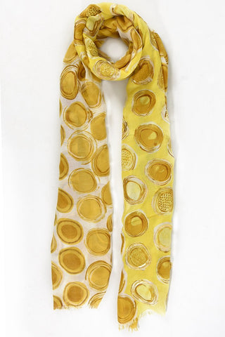 Abstract Scarf in Mustard and Gold