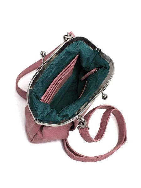 Ravenna Bag in Green Spruce, Millenium Pink and Red