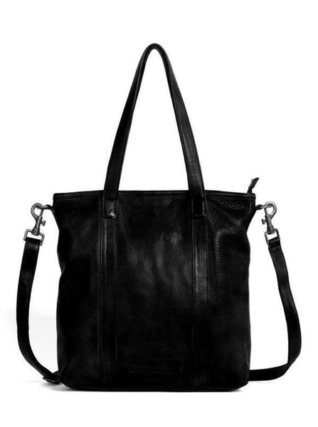 Ustica Bag in Black and Mustang Brown
