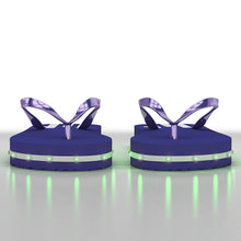 Load image into Gallery viewer, Litflip Light-Up Flip Flop Sandals for Men & Kids, Water-Resistant & Sandproof, Blue, Glowing LED Lights, Double USB Recharging Cable