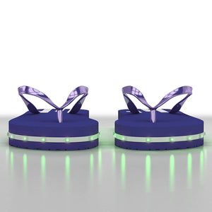 Litflip Light-Up Flip Flop Sandals for Men, Water-Resistant & Sandproof, Multicolor Glowing LED Lights, Double USB Recharging Cable, Trendy Design & Durable Quality