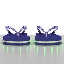 Load image into Gallery viewer, Litflip Light-Up Flip Flop Sandals for Men, Water-Resistant & Sandproof, Multicolor Glowing LED Lights, Double USB Recharging Cable, Trendy Design & Durable Quality