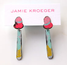 Load image into Gallery viewer, Hand Painted End of Summer Earrings (small)