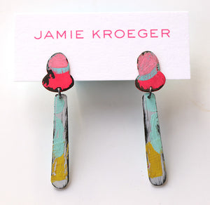 Hand Painted End of Summer Earrings (small)