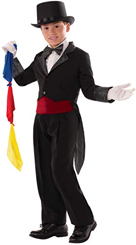 Forum Novelties Kids Child Magician Tailcoat Costume, Black, Large